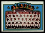 1972 Topps #262   Padres Team Front Thumbnail