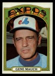 1972 Topps #276  Gene Mauch  Front Thumbnail