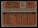 1972 Topps #293  Dan Frisella  Back Thumbnail