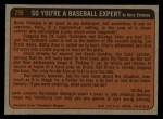 1972 Topps #298   -  Claude Osteen In Action Back Thumbnail