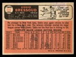1966 Topps #516  Eddie Bressoud  Back Thumbnail