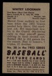 1952 Bowman #38  Whitey Lockman  Back Thumbnail