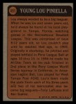 1972 Topps #491   -  Lou Piniella Boyhood Photo Back Thumbnail