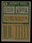 1971 Topps #50  Bobby Hull  Back Thumbnail