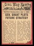 1965 A and BC England Civil War News #38   General Grant Back Thumbnail