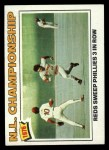1977 Topps #277   1976 NL Championship  - Reds Sweep Phillies 3 in Row Front Thumbnail