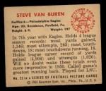 1950 Bowman #23  Steve Van Buren  Back Thumbnail