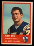 1963 Fleer #73  Ron Mix  Front Thumbnail