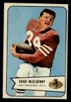 1954 Bowman #54  Hugh McElhenny  Front Thumbnail