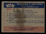 1959 Fleer #72   -  Ted Williams Hitting Fundamentals #2 Back Thumbnail