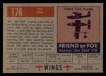 1952 Topps Wings #176   Sea Gull Back Thumbnail