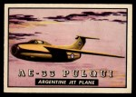 1952 Topps Wings #102   AE-33 Pulqui Front Thumbnail