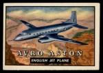 1952 Topps Wings #112   Avro Aston Front Thumbnail