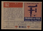 1952 Topps Wings #162   M-14 Back Thumbnail