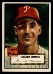 1952 Topps #221  Granny Hamner  Front Thumbnail