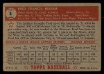 1952 Topps #8  Fred Marsh  Back Thumbnail