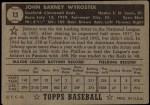 1952 Topps #13 BLK John Wyrostek  Back Thumbnail
