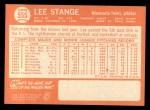 1964 Topps #555  Lee Stange  Back Thumbnail