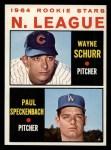 1964 Topps #548   -  Wayne Schurr / Paul Speckenbach NL Rookies Front Thumbnail