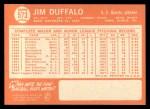 1964 Topps #573  Jim Duffalo  Back Thumbnail