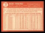 1964 Topps #20  Bob Friend  Back Thumbnail