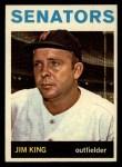 1964 Topps #217  Jim King  Front Thumbnail