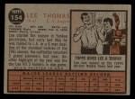 1962 Topps #154 GRN Lee Thomas  Back Thumbnail