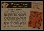 1955 Bowman #8  Warren Hacker  Back Thumbnail
