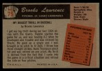 1955 Bowman #75  Brooks Lawrence  Back Thumbnail