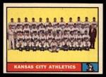 1961 Topps #297   Athletics Team Front Thumbnail