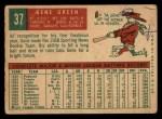 1959 Topps #37  Gene Green  Back Thumbnail