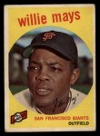 1959 Topps #50  Willie Mays  Front Thumbnail