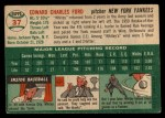 1954 Topps #37  Whitey Ford  Back Thumbnail