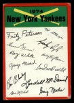 1974 Topps Red Checklist   Yankees Red Team Checklist Front Thumbnail