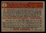 1952 Topps #2 RED Pete Runnels  Back Thumbnail