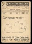 1959 Topps #135  M.C. Reynolds  Back Thumbnail