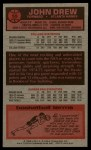1976 Topps #59  John Drew  Back Thumbnail