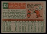 1959 Topps #325  Ken Boyer  Back Thumbnail