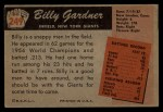 1955 Bowman #249  Billy Gardner  Back Thumbnail