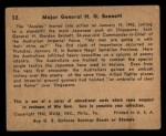 1941 Gum Inc. War Gum #32   Major General H.G. Bennett Back Thumbnail