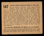1938 Gum Inc. Horrors of War #147   Airmen Destroy Pontoon Bridge to Trap Japs Back Thumbnail
