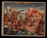1938 Gum Inc. Horrors of War #147   Airmen Destroy Pontoon Bridge to Trap Japs Front Thumbnail