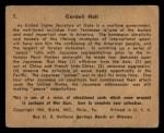 1941 Gum Inc. War Gum #7   Cordell Hull Back Thumbnail