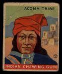 1933 Goudey Indian Gum #86   Acoma Tribe  Front Thumbnail