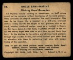 1941 Gum Inc. Uncle Sam Home Defense #88   Pitching Hand Grenades Back Thumbnail