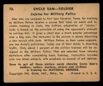 1941 Gum Inc. Uncle Sam Home Defense #78   Jujutsu For Military Police Back Thumbnail