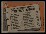 1972 Topps #95   -  Fergie Jenkins / Tom Seaver / Bil Stoneman NL Strikeout Leaders   Back Thumbnail