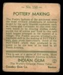 1933 Goudey Indian Gum #153   Pottery Making  Back Thumbnail