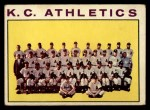 1964 Topps #151 COR  Athletics Team Front Thumbnail