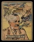 1941 Gum Inc. War Gum #21   General Sir Archibald P. Wavell Front Thumbnail